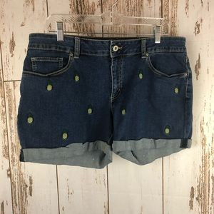 Faded Glory Pineapple Shorts, Size 16.  M2